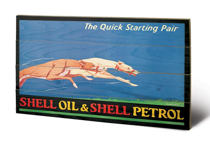 Shell - Greyhounds, 1926 Schilderij op hout