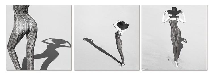 Silhouette of woman Schilderij