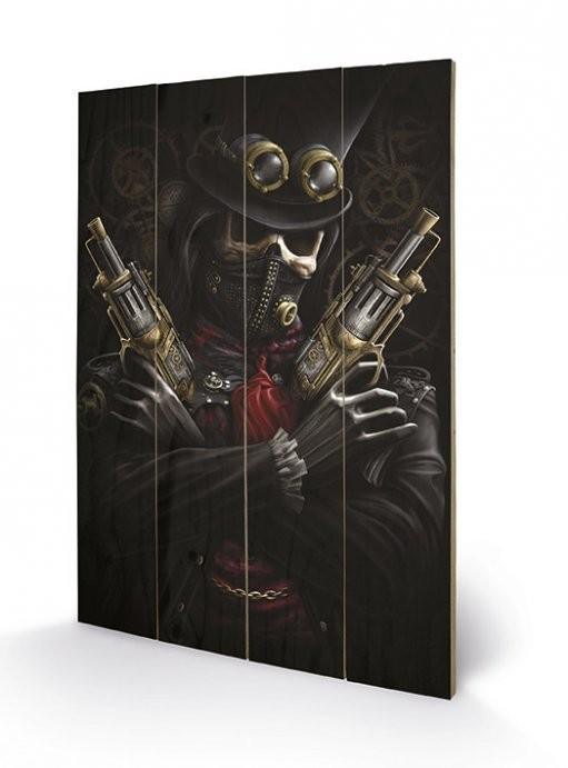 SPIRAL - steampunk bandit Schilderij op hout