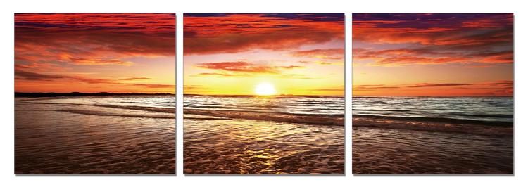 Sunset by the Sea Schilderij