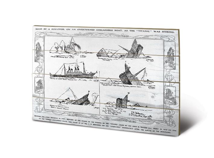 Titanic - Sinking Schilderij op hout