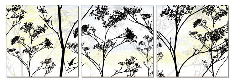 Wild Flower Silhouette Schilderij