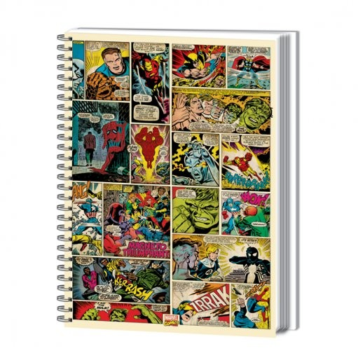 Schreibwaren MARVEL COMIC STRIP - notebook A4