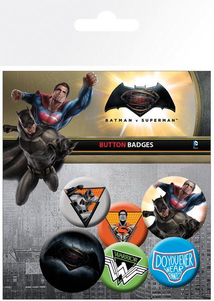Set insigne Batman Vs Superman - Mix