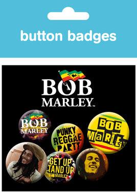 Set insigne BOB MARLEY