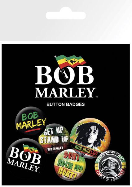 Set insigne BOB MARLEY - logos