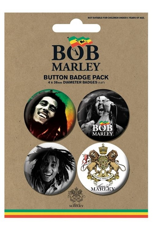Set insigne BOB MARLEY - photos