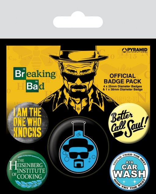 Set insigne Breaking Bad - Heisenberg Flask