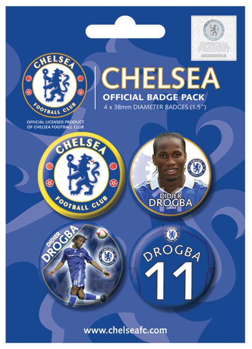 Set insigne CHELSEA - Drogba
