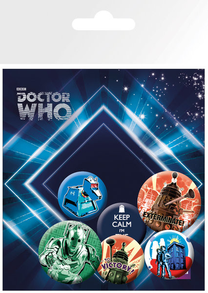 Set insigne DOCTOR WHO - retro