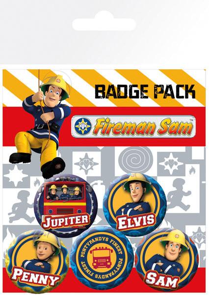 Set insigne Fireman Sam - Heroes