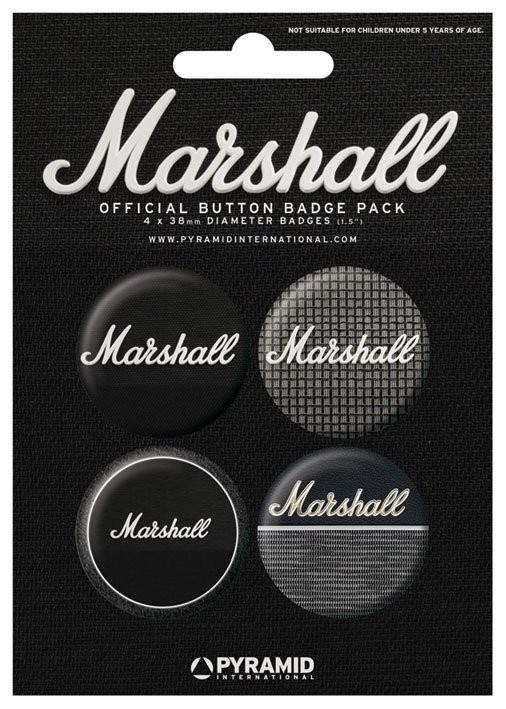 Set insigne MARSHALL - amps