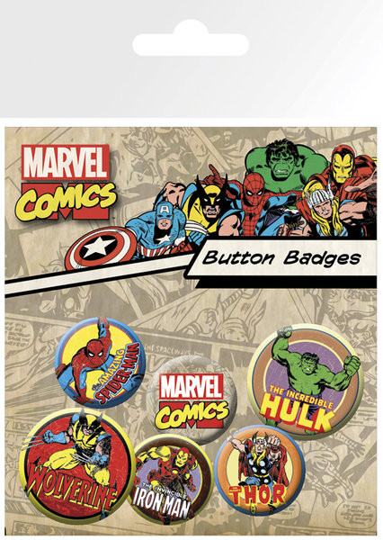 Set insigne MARVEL - characters