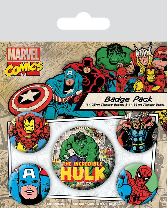 Set insigne  Marvel Retro - Hulk