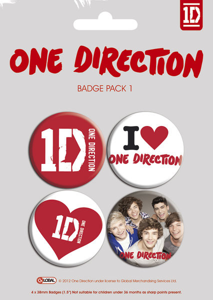 Set insigne ONE DIRECTION - pack 1