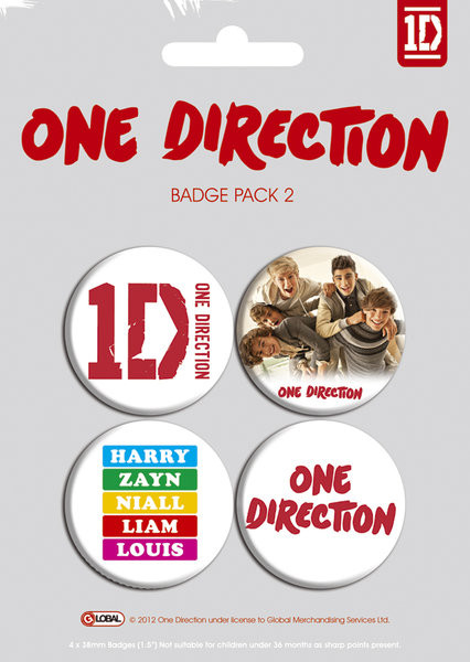 Set insigne ONE DIRECTION - pack 2