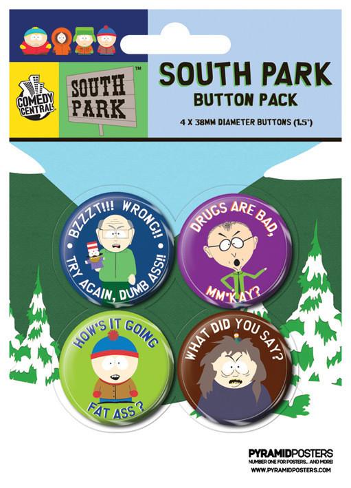 Set insigne SOUTH PARK - Slogans