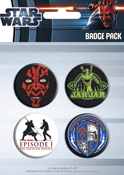 Set insigne STAR WARS - episode 1