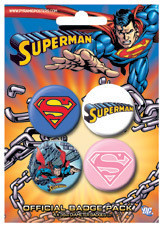 Set insigne SUPERMAN