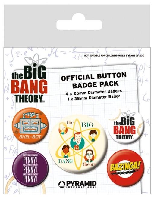 Set insigne The Big Bang Theory - Characters
