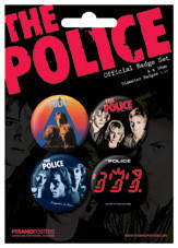 Set insigne THE POLICE - Albums