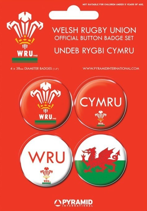 Set insigne WELSH RUGBY UNION