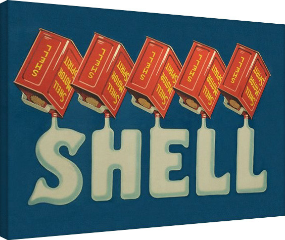 Plagát Canvas Shell - Five Cans 'Shell', 1920