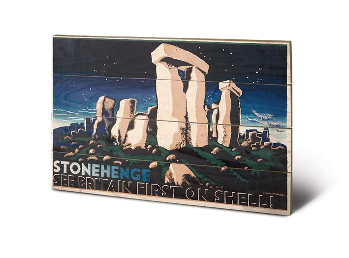Bild auf Holz Shell - Stonehenge
