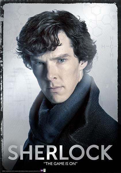 Sherlock - Close Metallposter