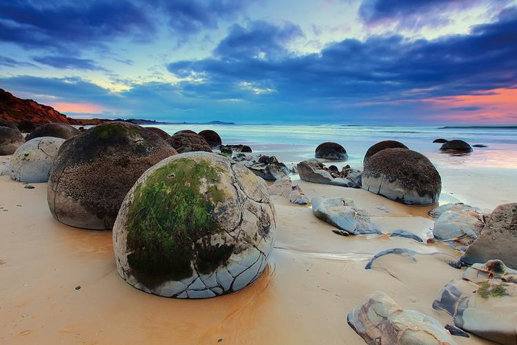 Skleněný Obraz Barevné moře s kameny