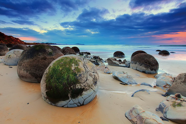 Obraz Colored Beach with Stones