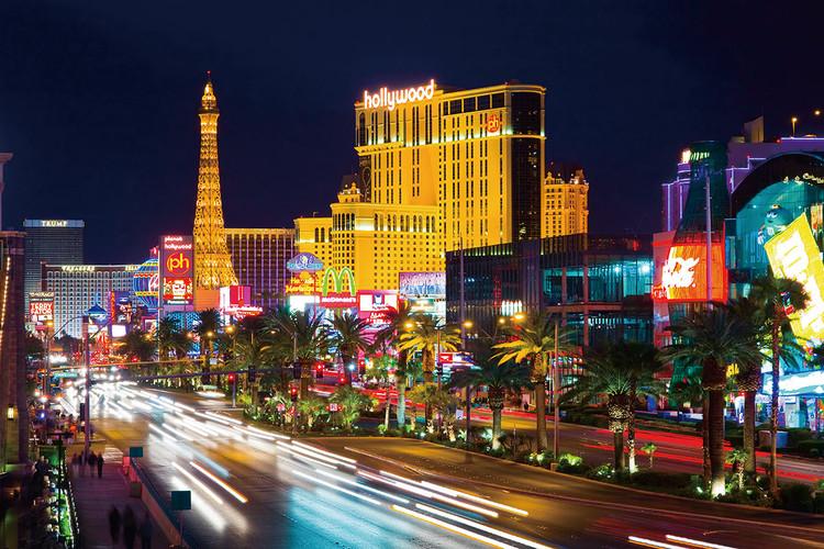 Skleněný Obraz Las Vegas v noci