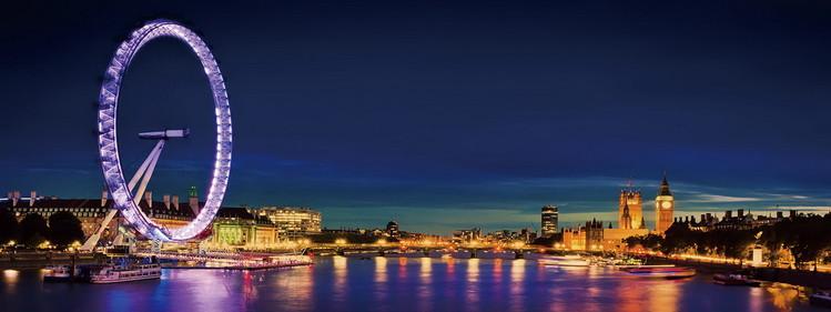 Skleněný Obraz Londýn - London Eye