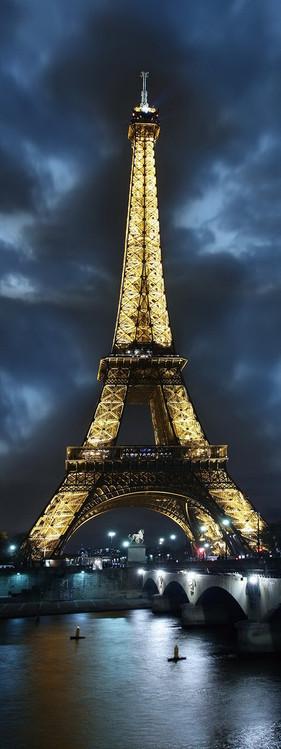 Skleněný Obraz Paříž - Eiffelova věž v noci