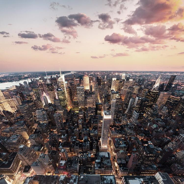 Skleněný Obraz Pohled na město
