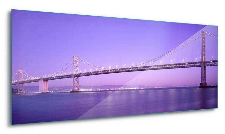 Skleněný Obraz Purple Bridge