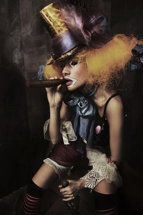 Skleněný Obraz Žena umění - Socha