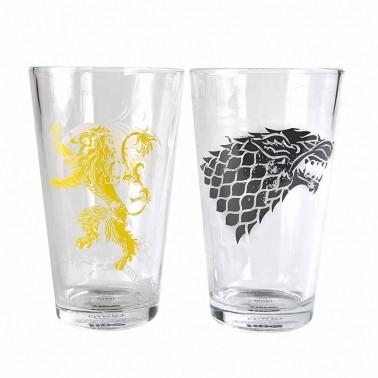 Sklenička Game Of Thrones - Stark And Lan