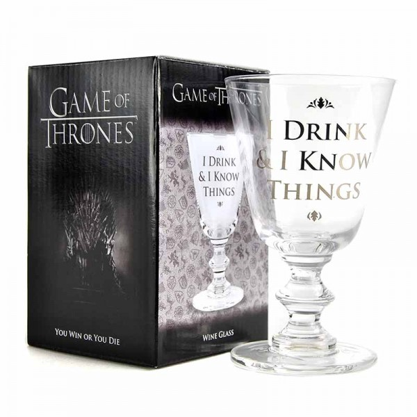 Sklenice Hra o Trůny (Game of Thrones) - Drink And Know Things