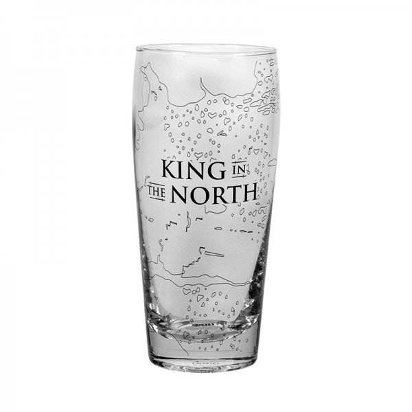 Sklenice  Hra o Trůny (Game of Thrones) - King In The North