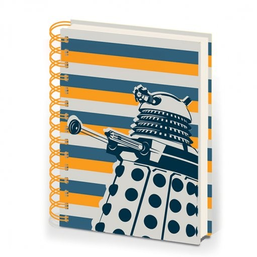 DOCTOR WHO - notebook A5 dalek stripe Skolesager