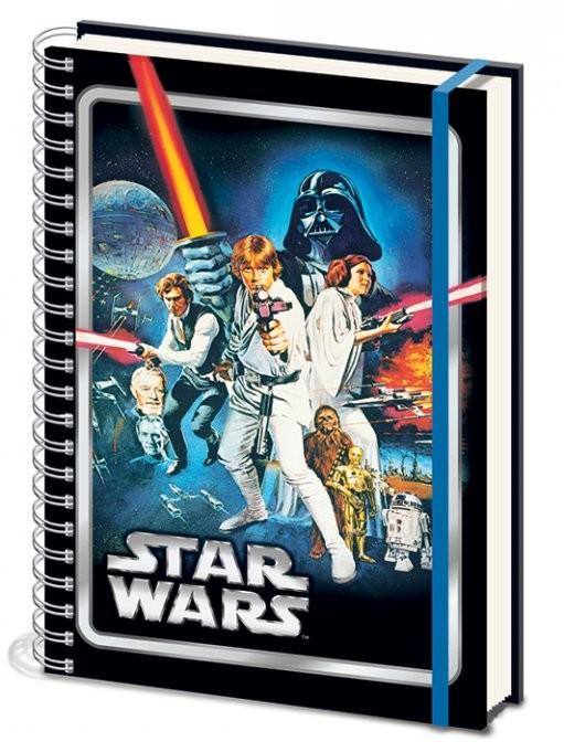 Star Wars - A New Hope A4 Notebook Skolesager