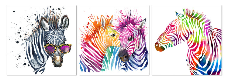 Colored horse Slika