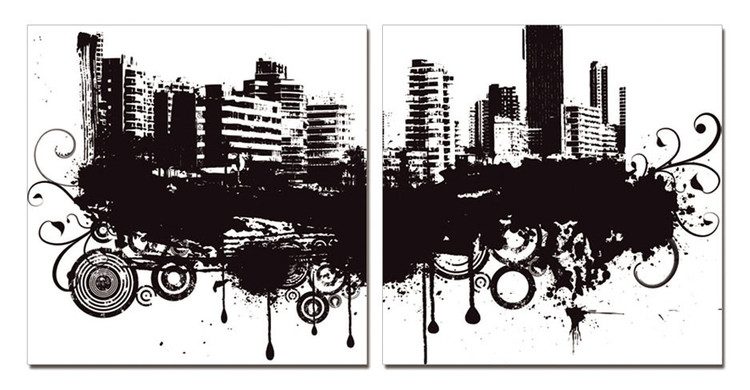Modern Design - City in Clouds Slika