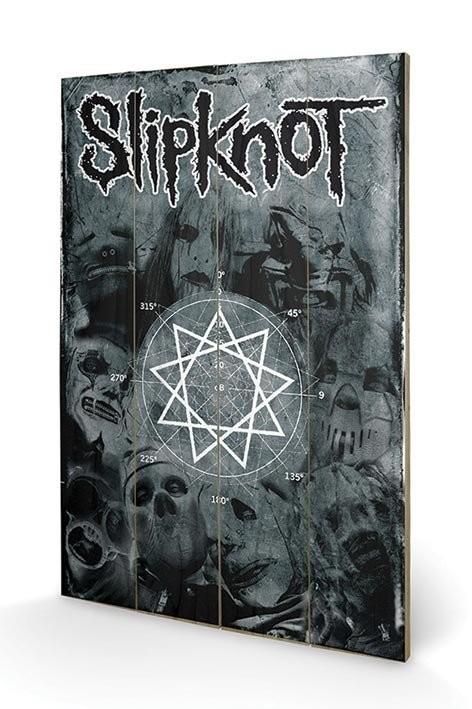 Poster su legno Slipknot - Pentagram