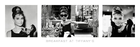 Audrey Hepburn - breakfast at tiffany's Smale plakat