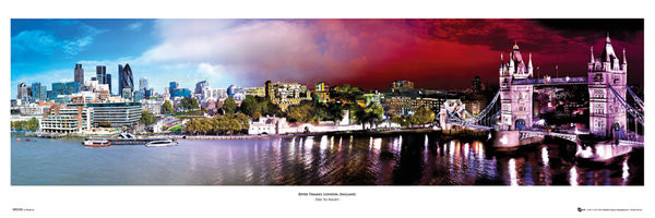 Londen - day & night Smale plakat