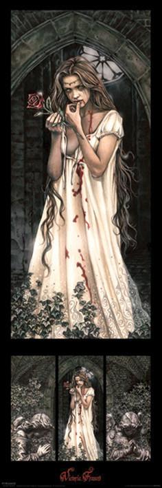 Victoria Frances - triptych Smale plakat
