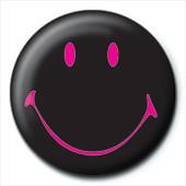 SMILEY - black Insignă