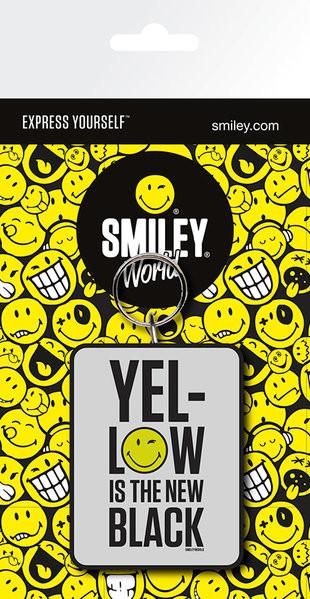 Smiley - Yellow is the New Black kulcsatartó